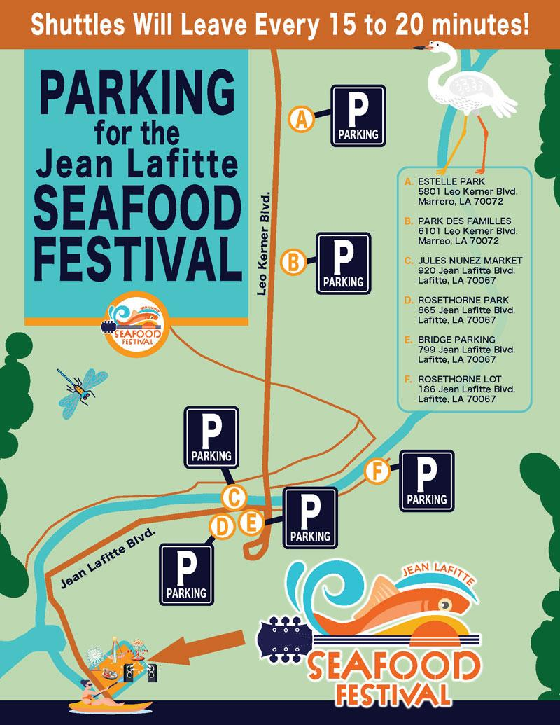 Seafood Festival parking map